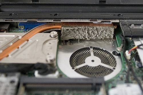 Профилактика (чистка) системы охлаждения ноутбука Barkat. Сервисный центр. Ремонт оргтехники. Полтава
